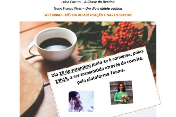 Café Literário online com dois escritores elvenses